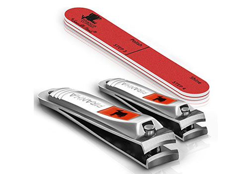 sensible-needs-piranha-nail-clippers-set-with-nail-buffer-2-pieces