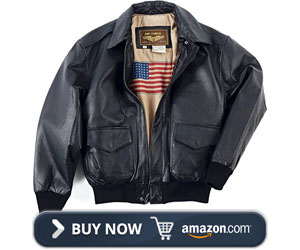 Landing Leathers Men's Air Force A-2 Flight Bomber Jacket