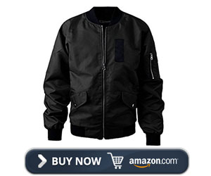 Majeclo Men's Casual Fitted Ma-1 Flight Bomber Jacket