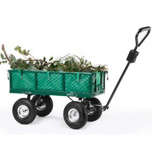 VonHaus All Terrain Steel Garden Utility Cart