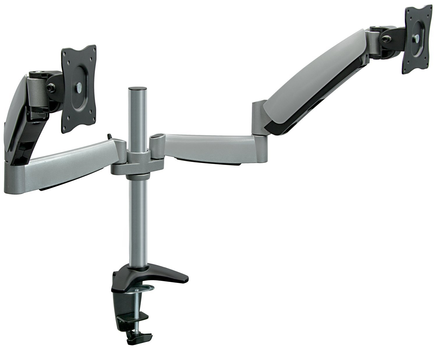 Ergonomic Dual Adjustable Monitor Arm Wall Mount Guide