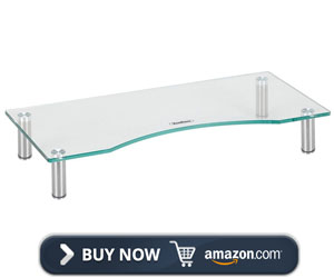 VonHaus Curved Glass Monitor Stand