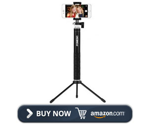 Foneso Bluetooth Remote with tripod Selfie Stick