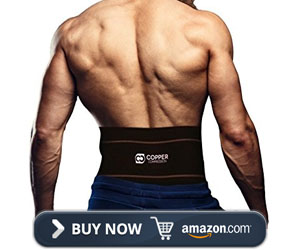 Copper Compression Recovery Back Brace