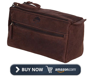 Rustic Town Leather Toiletry Bag